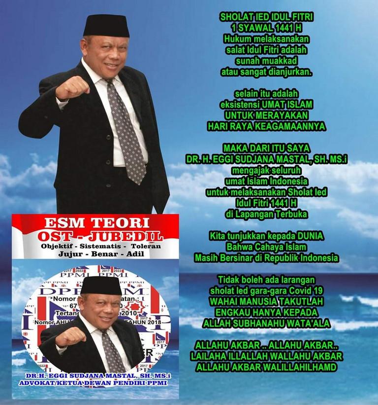 Eggi Sudjana: Shalat Idul Fitri Sunnah Muakkad Atau Sangat